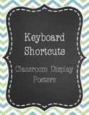 Keyboard Shortcuts Classroom Display Posters