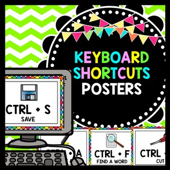 Keyboard Shortcuts - Technology in the Classroom - Unit 1 POSTERS