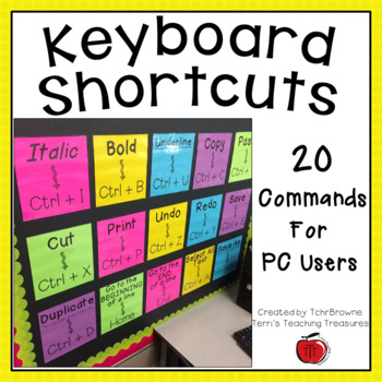 Keyboard Shortcuts for PC Computers