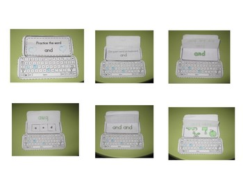 Keyboard Sight Words Practice Books Set 10