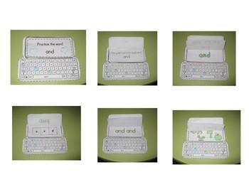 Keyboard Sight Words Practice Books Set 12