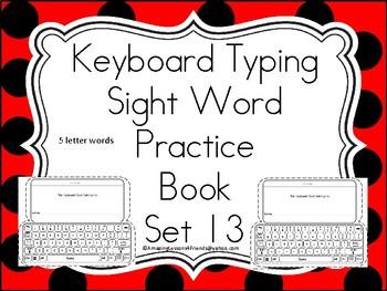 Keyboard Sight Words Practice Books Set 13