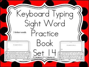 Keyboard Sight Words Practice Books Set 14