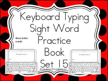 Keyboard Sight Words Practice Books Set 15
