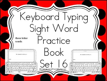 Keyboard Sight Words Practice Books Set 16