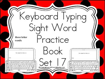 Keyboard Sight Words Practice Books Set 17