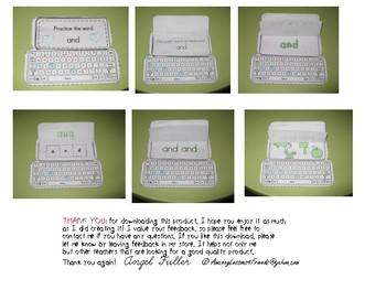 Keyboard Sight Words Practice Books Set 17