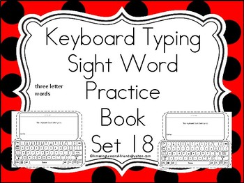 Keyboard Sight Words Practice Books Set 18
