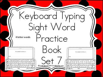 Keyboard Sight Words Practice Books Set 7
