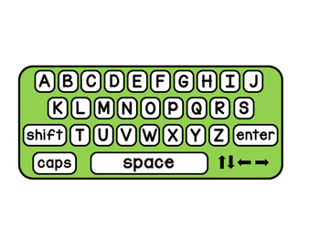 Keyboard Template (Capitals and lowercase)