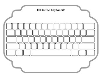 Keyboard Worksheets