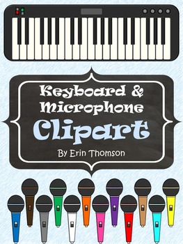 Keyboard and Microphone Clipart