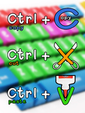 Keyboard shortcuts Poster: Cut, Copy and Paste