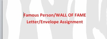 Keyboard/Computer Applications-Letter, Envelopes WALL OF FAME ASSIGNMENT