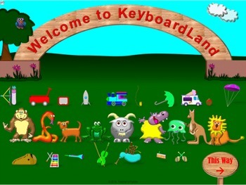 Keyboarding Practice Game: KeyboardLand—The Trick to Finding Those Letters!