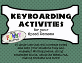 Keyboarding Activities for your Speed Demons