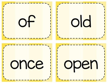 Keyboarding Activity Cards using Dolch 1st Grade Word List {Editable}