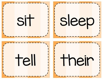 Keyboarding Activity Cards using Dolch 2nd Grade Word List {Editable}