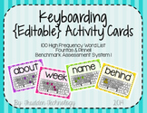 Keyboarding Activity Cards using F&P 100 High Frequency Wo