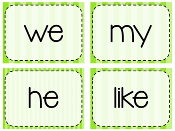 Keyboarding Activity Cards using F&P 25 High Frequency Words {Editable}