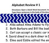 Keyboarding Alphabet Review #1