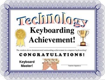 Computer - Keyboarding Certificate