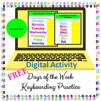 Keyboarding FREE - Days of the Week - Digital Activity