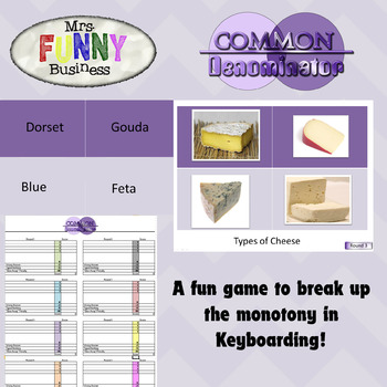 Keyboarding Game - Common Denominator