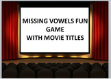 Keyboarding Games- Missing Vowels Fun Game with Movie Titles- PowerPoint Ver.