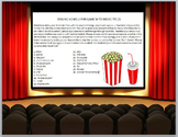 Keyboarding Games- Missing Vowels Fun Game with Movie Titles- Word Version