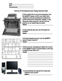 Keyboarding- History of the QWERTY Keyboard and Typing Internet Hunt w/ Answers
