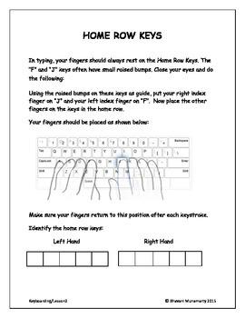 Keyboarding - Home Row Keys