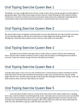Keyboarding - Oral Typing Queen Bee