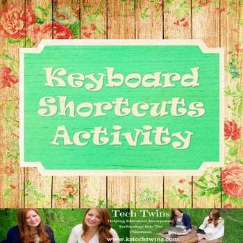 Keyboarding Shortcuts Worksheet