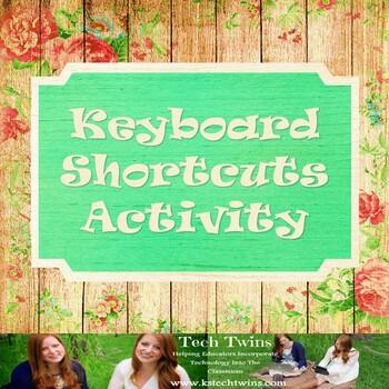Keyboarding Shortcuts Worksheet