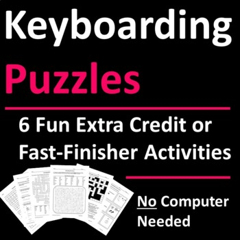 Keyboarding Skills Activities for Fast-Finishers, Sub Days, or Extra Credit