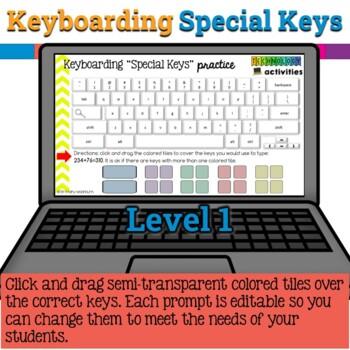 Keyboarding Special Keys Practice in Google Slides {Bonus Included}