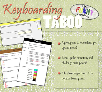 Keyboarding Taboo Game