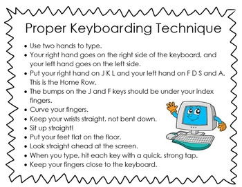 Keyboarding Technique Poster