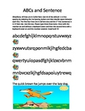 Keyboarding- Typing- ABCs and Sentence- Letter Key Typing Review