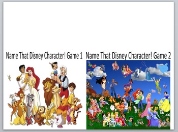 Keyboarding-Typing Games- Name That Disney Character! Game 1 and 2