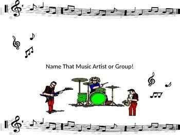 Keyboarding-Typing Games- Name That Music Artist or Group!