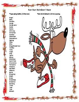 Keyboarding- Typing Games- Run Run Reindeer! Race