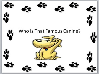 Keyboarding-Typing Games- Who Is That Famous Canine?