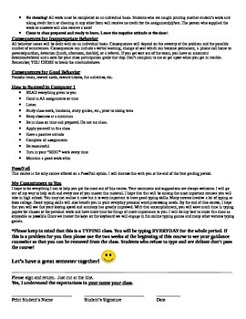 Keyboarding-Typing- Sample Keyboarding & Word Process./Computer Course Syllabus