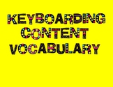 Keyboarding Vocabulary and Word Wall