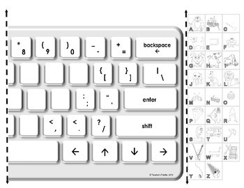 "Keyboarding Worksheet C (""Make Your Own Keyboard Mnemonic Poster"")"