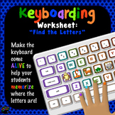 "Keyboarding Worksheet D (""Find The Letters"")"