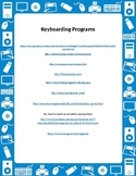 Keyboarding websites and practice sheet