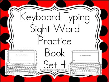 Keyboards Typing Sight Words Practice Books Set 4